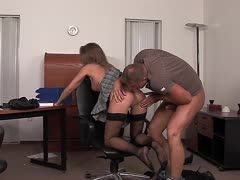 Ass sex in the office