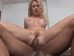 Blonde sister likes anal sex