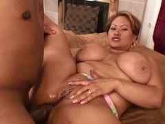 Fatty loves anal sex with big dicks