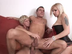 Blondie can play with the gay couple