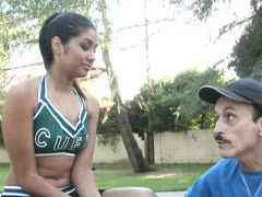 Cheerleader girl seduces the coach