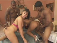 Foursome sex orgy with black boys