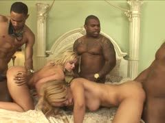Hot interracial group fuck